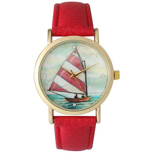 Olivia Pratt Womens Red Strap Watch-15009red
