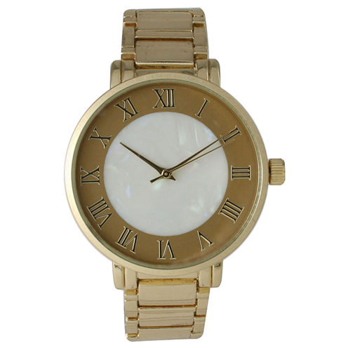 Olivia Pratt Womens Gold Tone Strap Watch-15255mpgold