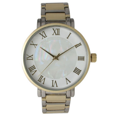 jcpenney.com | Olivia Pratt Womens Two Tone Strap Watch-15255mptwotone