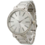 Olivia Pratt Womens Silver Tone Bangle Watch-15267silver