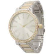 Olivia Pratt Womens Two Tone Bangle Watch-15267twotone