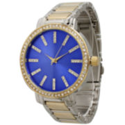 Olivia Pratt Womens Two Tone Bangle Watch-15267twotoneroyal