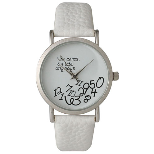 Olivia Pratt Womens White Strap Watch-15189white