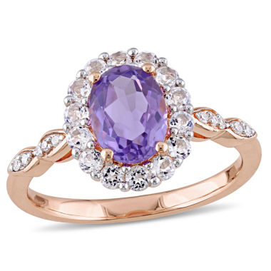 jcpenney.com | Womens Diamond Accent Purple Amethyst 14K Gold Cocktail Ring