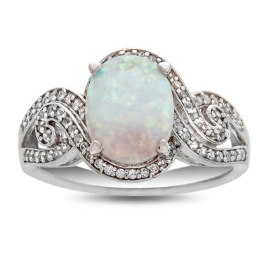 jcpenney.com | Womens Multi Color Opal Sterling Silver Cocktail Ring