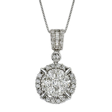 jcpenney.com | Womens 1 1/4 CT. T.W. White Diamond 14K Gold Pendant Necklace
