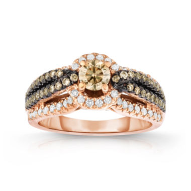 jcpenney.com | True Love, Celebrate Romance® 1 CT. T.W. Certified Champagne & White Diamond Ring