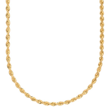 jcpenney.com | 10K Gold Rope Chain Necklace