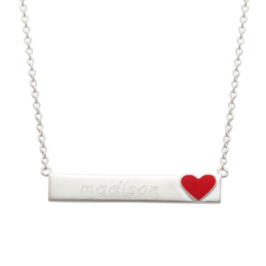 jcpenney.com | Personalized Sterling Silver Heart Emoji Name Necklace