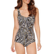 Azul by Maxine of Hollywood Paisley One Piece Swimsuit