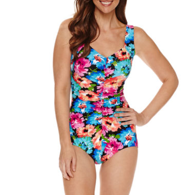 jcpenney.com | Azul by Maxine of Hollywood Floral One Piece Swimsuit