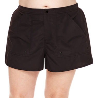 jcpenney.com | Azul by Maxine of Hollywood Solid Board Shorts-Plus