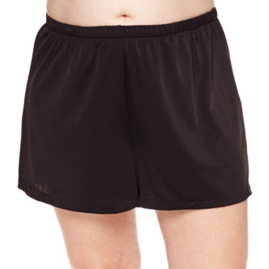 jcpenney.com | Azul by Maxine of Hollywood Solid Swim Shorts Plus