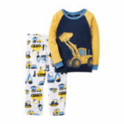 Carter's Boy Yellow Truck 2pc Fleece 2T-5T