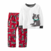 Carter's Boy Ivory Dog 2pc Fleece 2T-5T