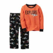 Carter'S Boy Orange Explore 2 Pc Fleece 2T-5T