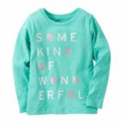 Carter'S Girl Turq Snowflake Knit Tee 4-8