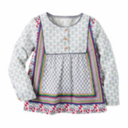 Carter's Girl Multi Print Woven Fashion Top 4-8