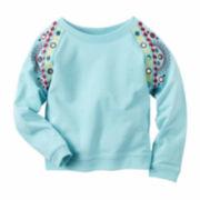 Carter's Girl Turq Knit Fashion Top 4-8