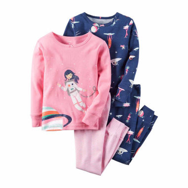 jcpenney.com | Carter's® 4-pc. Cotton Space Pajama Set - Toddler Girls 2t-5t
