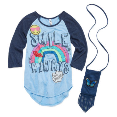 jcpenney.com | Beautees 3/4 Sleeve Layered Top - Big Kid Girls