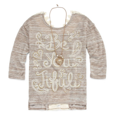jcpenney.com | Beautees Long Sleeve Layered Top - Big Kid