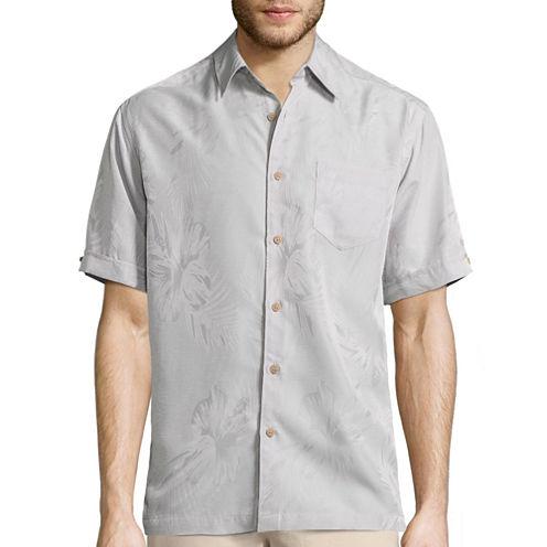 Havanera Short Sleeve Floral Jacquard Shirt