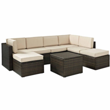 jcpenney.com | Palm Harbor Wicker 8-pc. Patio Sectional