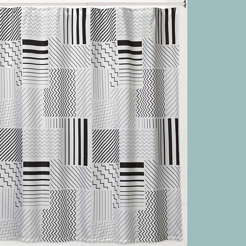 Modern Angles Shower Curtain