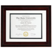 "Artcare 11x14"" Recognitions Walnut & Black Document Frame"