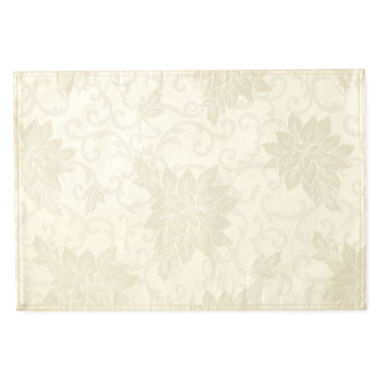 jcpenney.com | North Pole Trading Co Poinsettia Damask 4-pc. Placemat