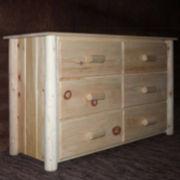 Frontier Pine 6-Drawer Dresser