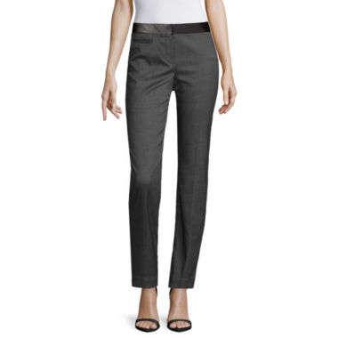 jcpenney.com | Worthington® Faux Leather-Trim Ankle Pants