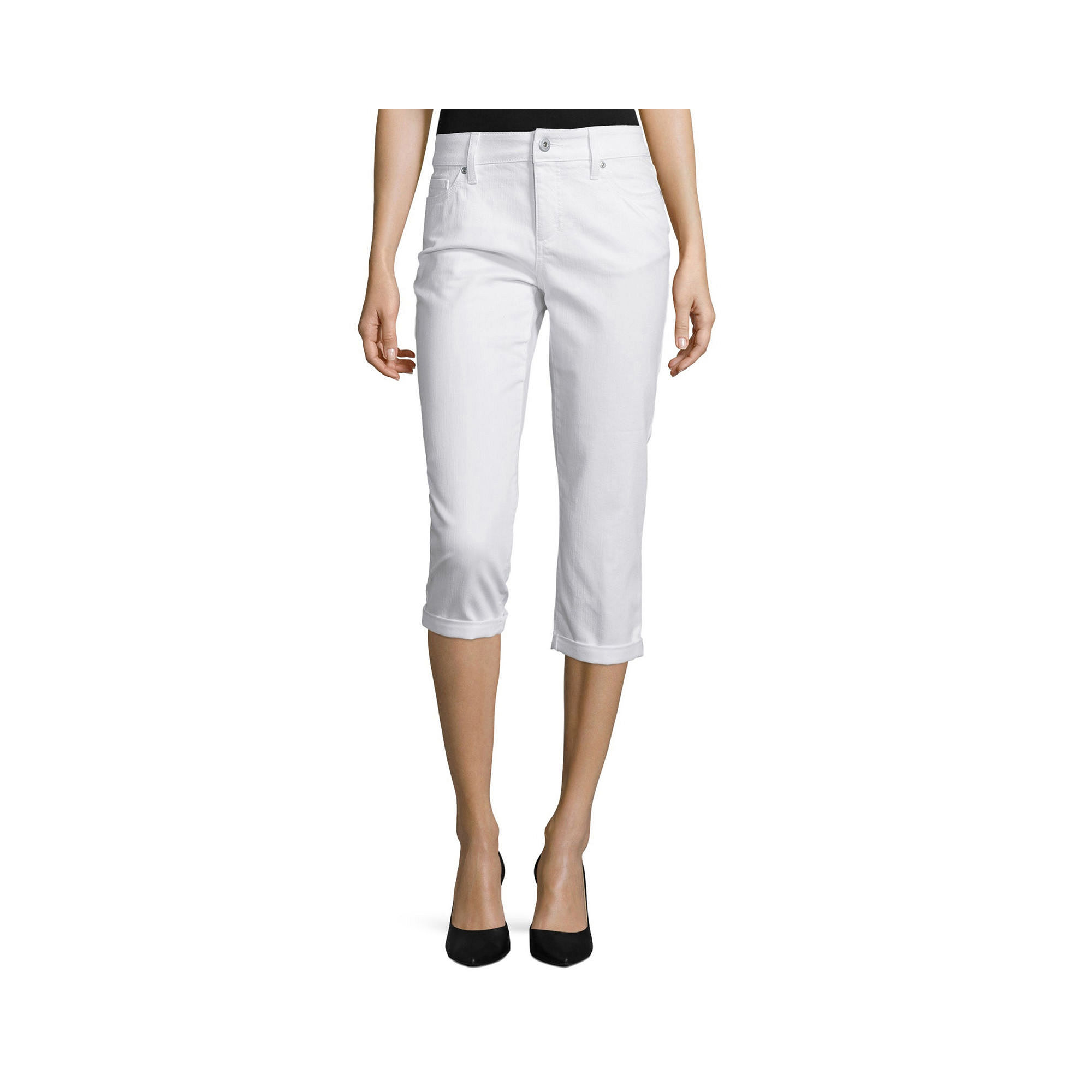 St. John's Bay Secretly Slender Denim Capri Pant plus size,  plus size fashion plus size appare