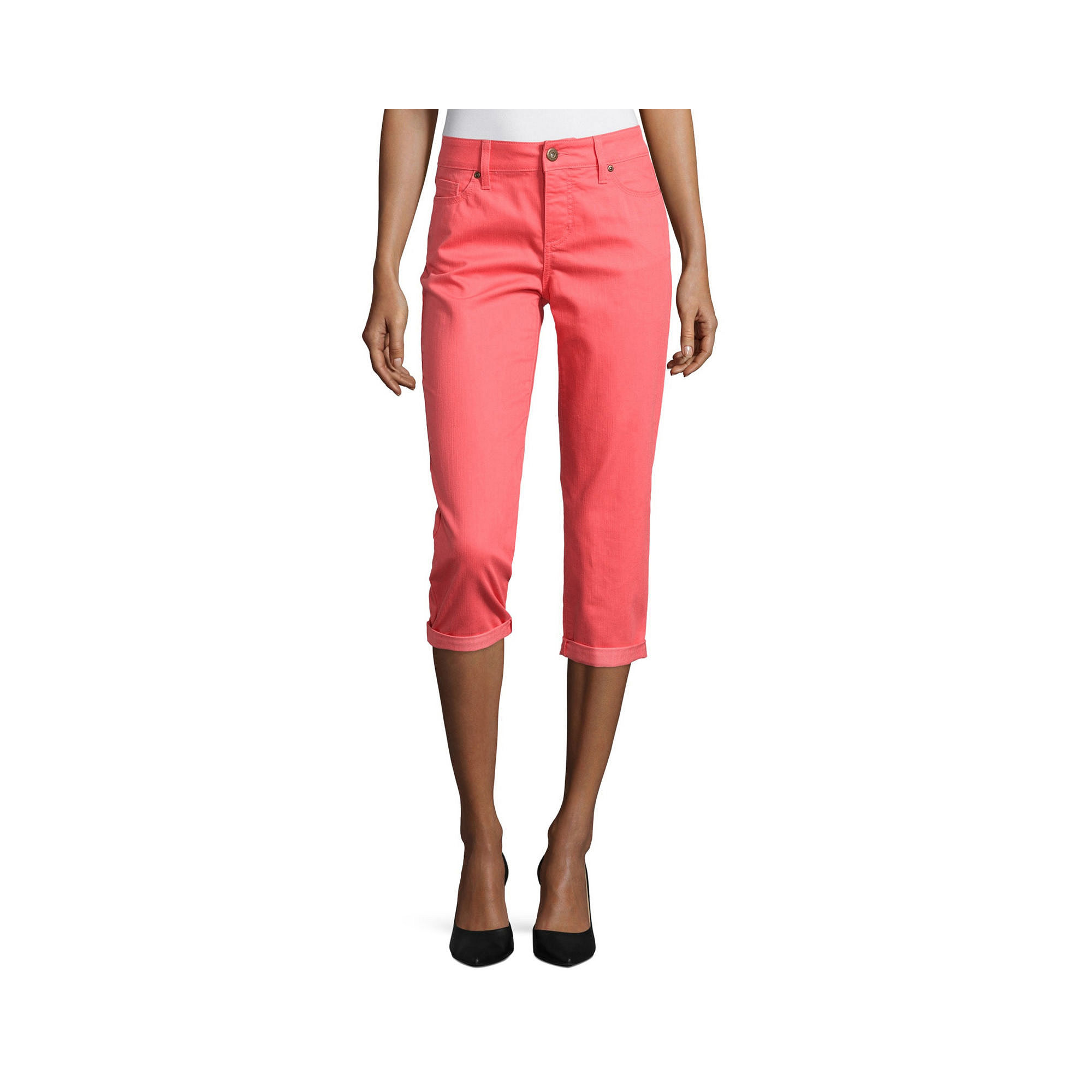 St. John's Bay Secretly Slender Denim Capri Pant