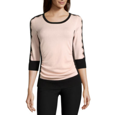 jcpenney.com | by&by 3/4-Sleeve Colorblock Sweater - Juniors