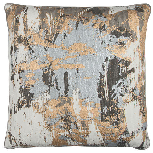 "Donny Osmond By Rizzy Home Abstract 20"" X 20"" Multi Decorative Filled Pillow"