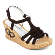 Arizona Benson Girls Wedge Sandals - Little Kids/Big Kids
