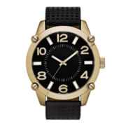 Mens Black Strap Watch