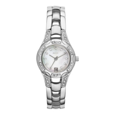 jcpenney.com | Relic® Charlotte Womens Silver-Tone Crystal-Accent Watch ZR12055