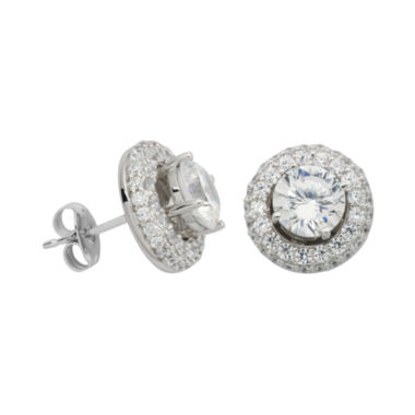 jcpenney.com | 100 Facets by DiamonArt® Cubic Zirconia Halo Stud Earrings