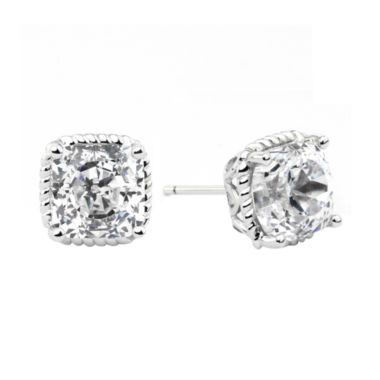 jcpenney.com | 100 Facets by DiamonArt® Square Cubic Zirconia Framed Stud Earrings