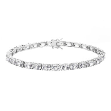 jcpenney.com | 100 Facets by DiamonArt® Cubic Zirconia Oval Line Bracelet