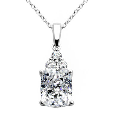 jcpenney.com | 100 Facets by DiamonArt® Emerald-Cut Cubic Zirconia Pendant Necklace