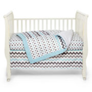 My Baby Sam Chevron Baby in Aqua 3-pc. Baby Bedding