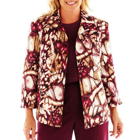 Alfred Dunner Circle Oaks Abstract-Print Jacket - Plus