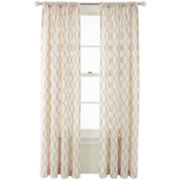 MarthaWindow™ Diamond Revel Rod-Pocket/Back-Tab Curtain Panel