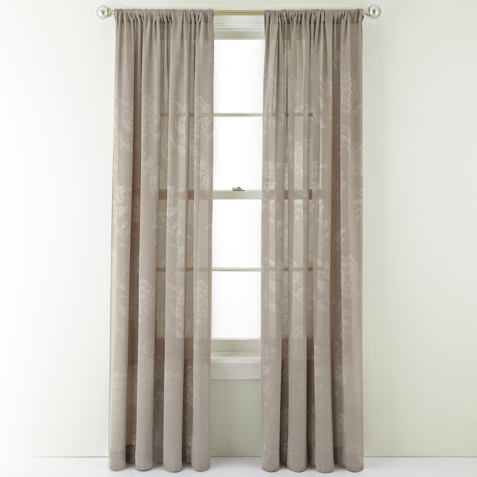 Royal Velvet Pavolva Rod Pocket Curtain Panel Gray On Popscreen