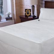 Safe & Warm™ Damask Stripe Electric Warming Mattress Pad