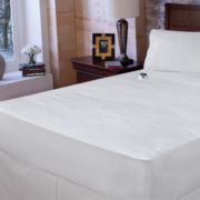Safe & Warm™ Damask Stripe Electric Warming Mattress Pad